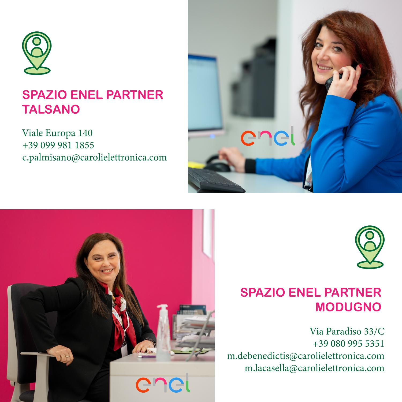 Spazi Enel partner Modugno e Talsano